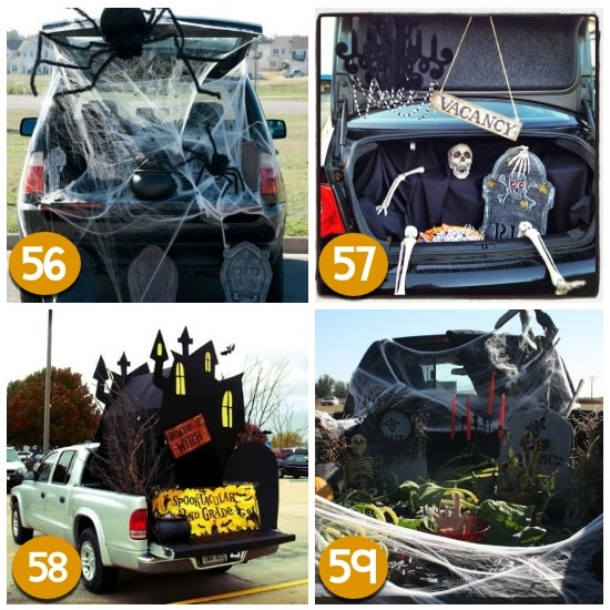spiders web fill your trunk with creepy spiderwebs and add a giant spider or two and you have yourself one scary trunk