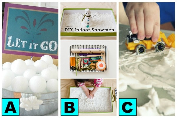 snow themed indoor play dates