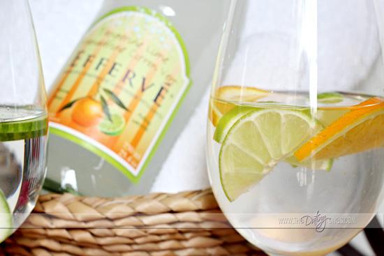 spa date night citrus water