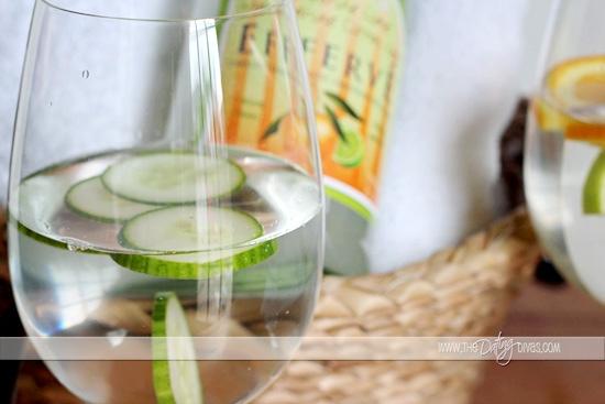 spa date night cucumber water