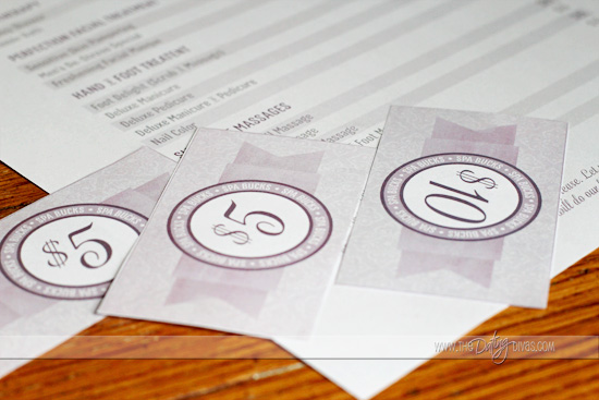 spa date night printable money
