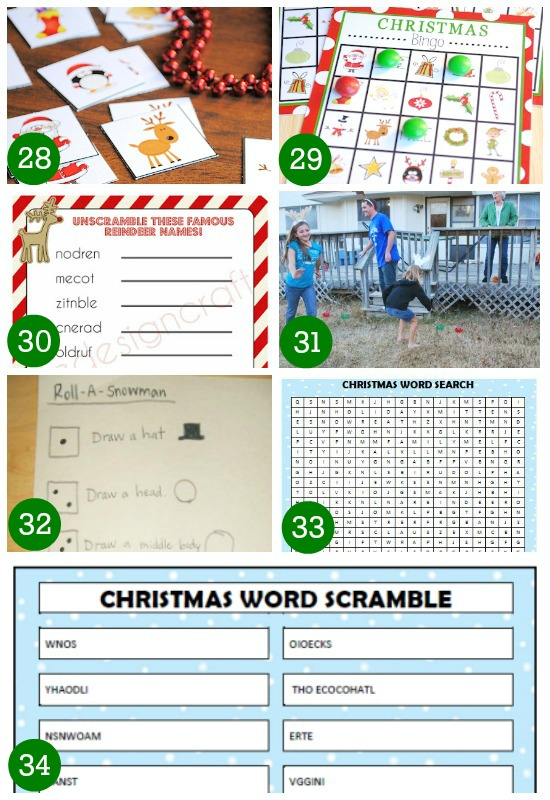 Christmas holiday games for kids