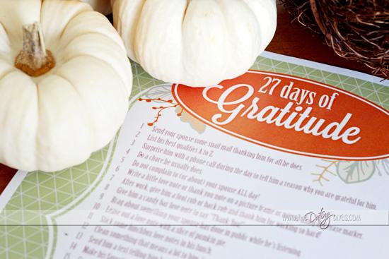 thanksgiving 27 days of gratitude