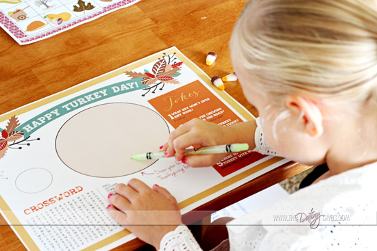 thanksgiving free placemat