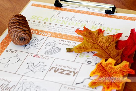 thanksgiving scavenger hunt printable