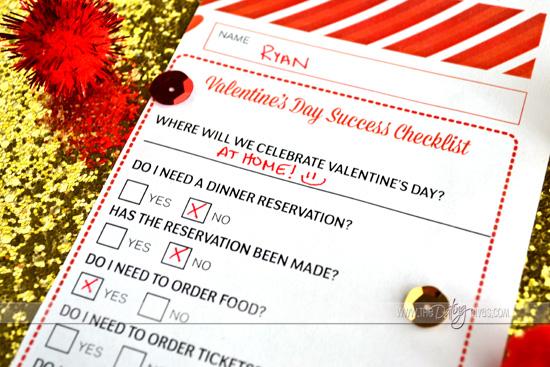 Valentine's Day Success Checklist Romantic Ideas