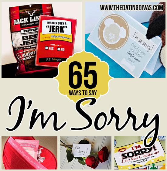 Creative ways to apologize